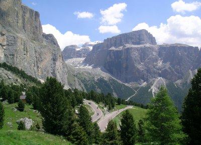 Pass Sella 1h30  car drive from Vittorio Veneto
